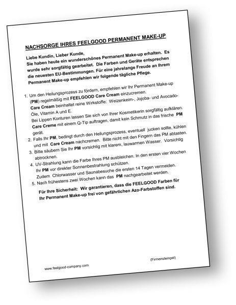 Informationsblatt Kunden-Nachsorge